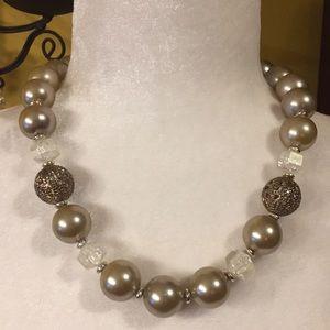 """Vintage Soft Gold Large Round Beads 20"""" EUC"""